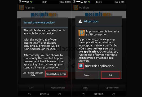 Aplikasi Internet Gratis Android