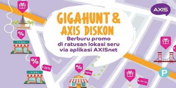 Cara mendapatkan kuota gratis Axis Giga Hunt