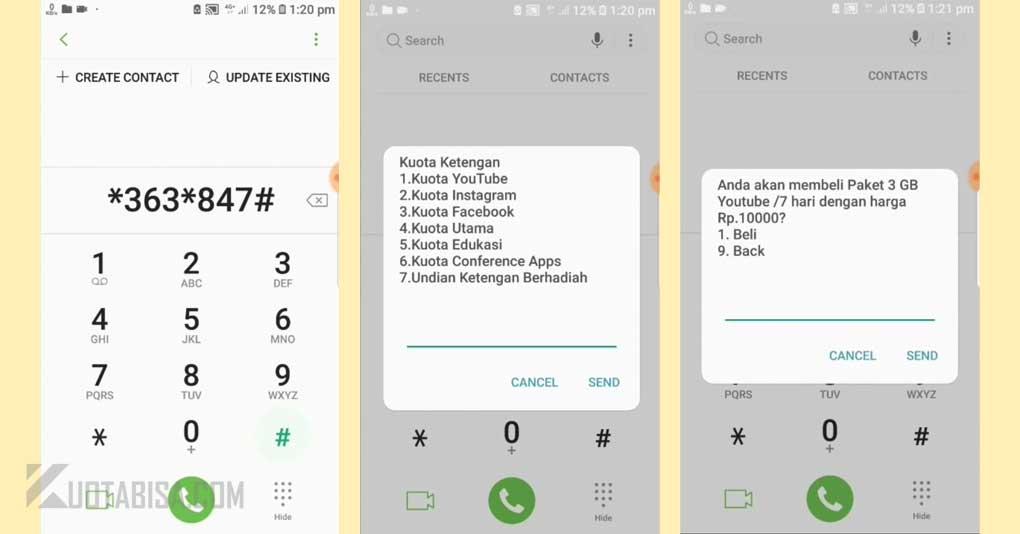 Kode Dial Telkomsel Kuota Ketengan