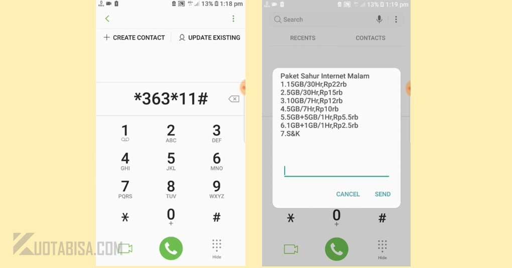 Kode Dial Telkomsel Murah Paket Sahur Malam
