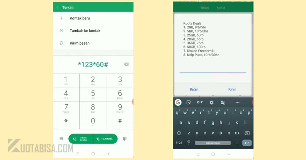 Kode Dial Indosat 2GB 9 ribu