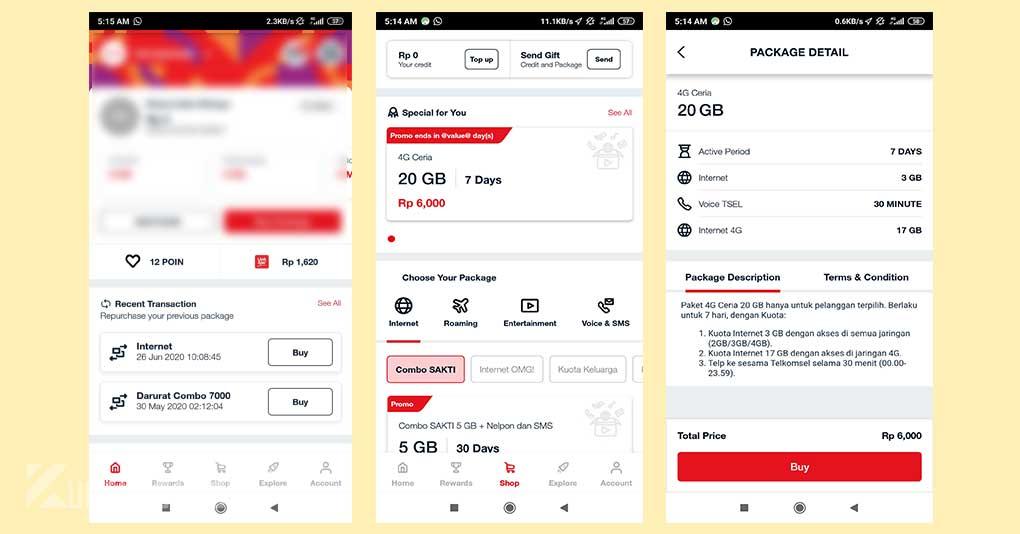 Cara Mengaktifkan Paket 4G Ceria Telkomsel