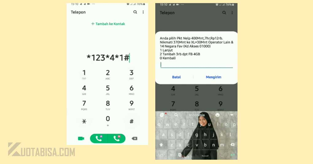 Kode Dial Nelpon XL Murah 400 Menit