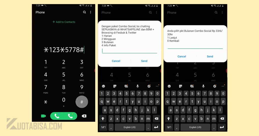 Kode Dial Paket Internet XL Murah Combo Social