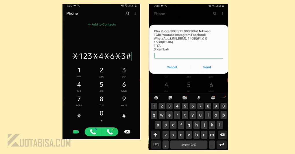 Kode Dial Paket Internet XL Termurah 30GB