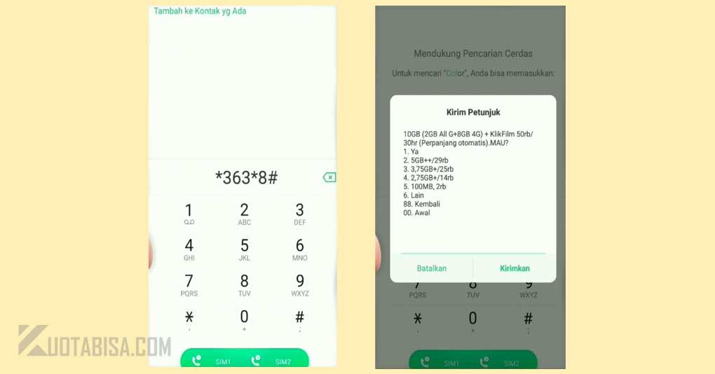 Kode Dial Paket Tri Murah 10GB harga 50 Ribu