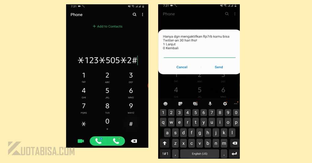 Kode Dial XL Twitter-an Rp. 7.000