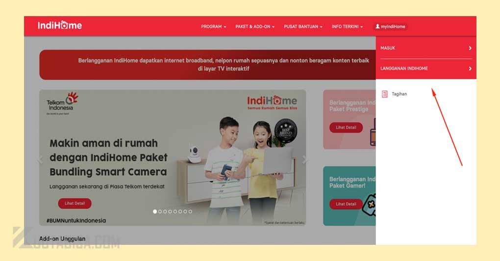 Cek Kuota IndiHome melalui Website