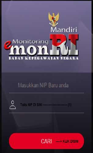 Cek Profil CPNS melalui eMonri
