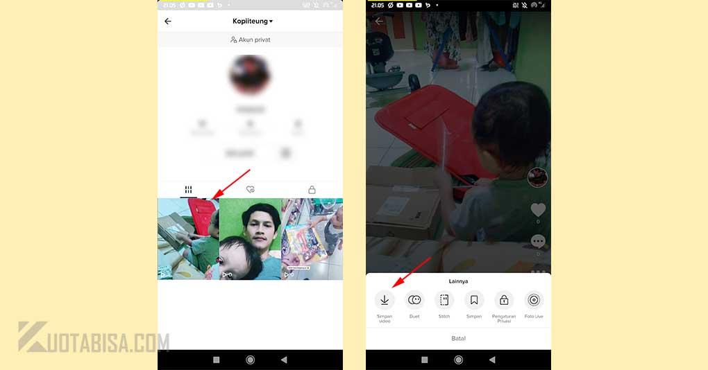 Download Video TikTok Sendiri
