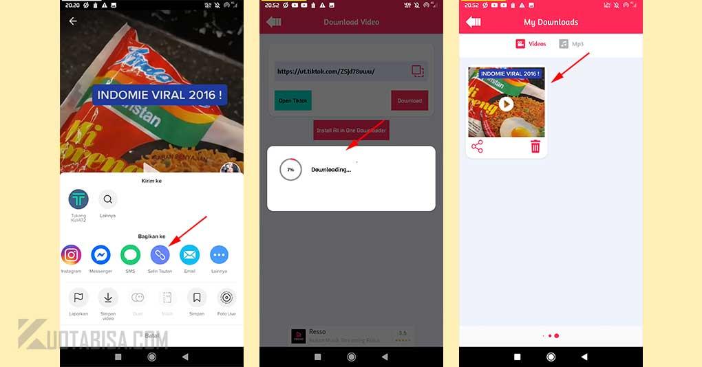 Download Video TikTok Tanpa Watermark Menggunakan Aplikasi