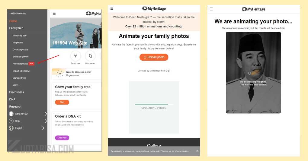 Cara Mengubah Foto Menjadi Animasi Hidup di MyHeritage