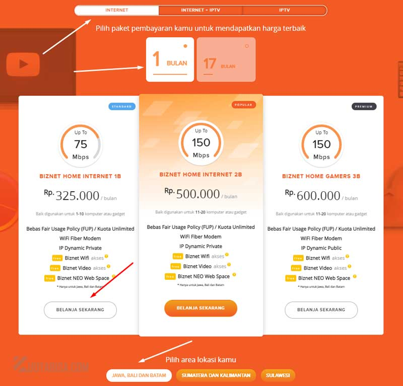 Cara Daftar Internet Biznet Home