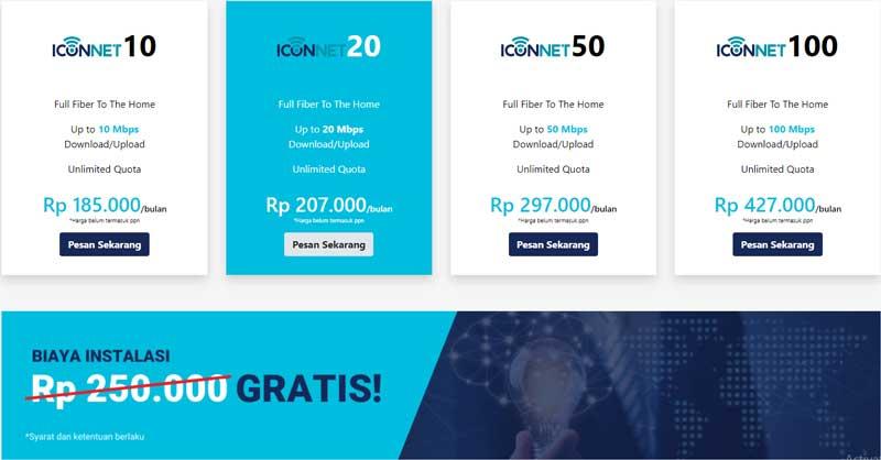 Iconnet Wifi Murah 100 ribuan
