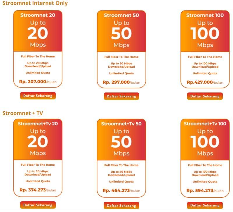 Stroomnet Wifi Murah 100 ribuan